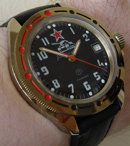 Original 1940 39 s issue komandirskie tank russian chinese watches the watch forum for Komandirskie watches